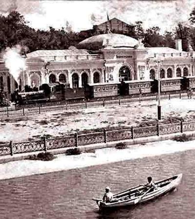 50-е годы. Так выглядел вокзал на станции Пионерская.