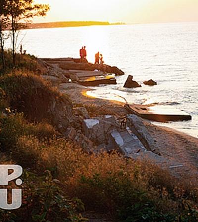 Пляж, расположенный около лагеря Азов. ФОТО ЮЛИИ ЮСУПОВОЙ.