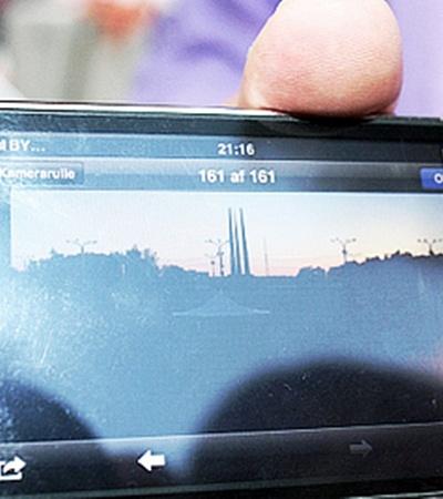 На свой мобильный Томас Невергрин запечатлел белорусских зрителей...