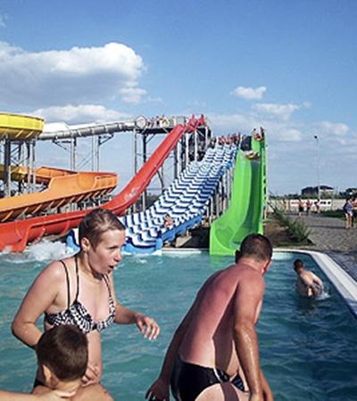 В Коблево находится один из самых крупных аквапарков Украины.