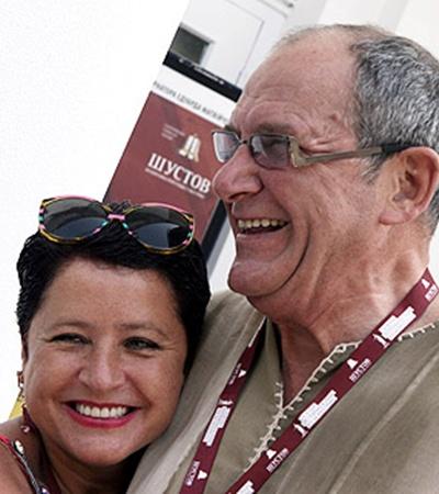 С женой Ириной.