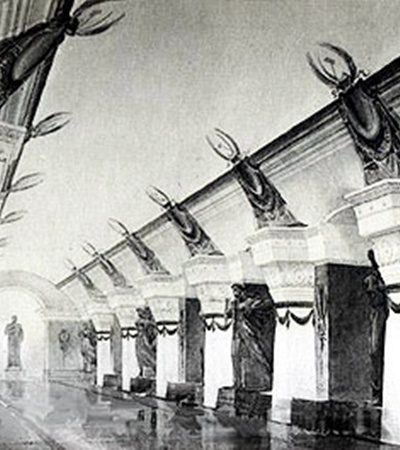 Станцию «Университет» должны были украшать монументальные скульптуры.