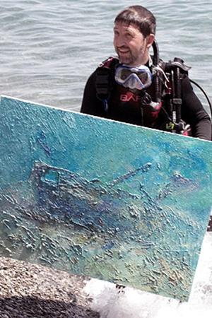 Это изображение корабля, затонувшего недалеко от Массандровского пляжа,  попало в Книгу рекордов Украины.