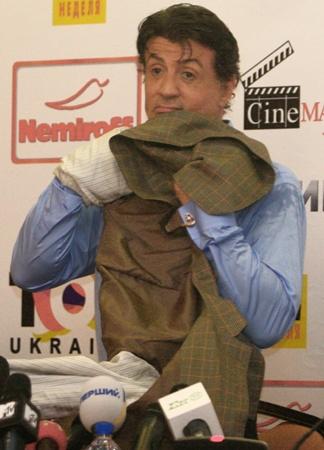 Сталлоне в Киеве: «Чтобы Шварценегер снялся в фильме, пришлось его уговаривать» фото