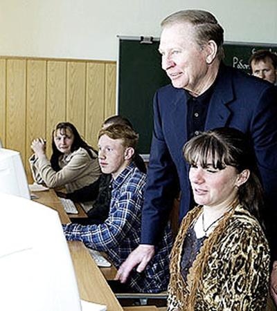 Леонид Данилович два раза в год посещает родные края и всячески помогает родной школе в соседнем селе.