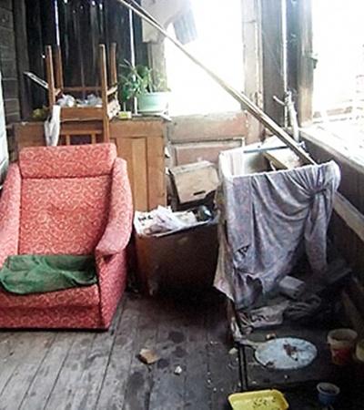 Вот так выглядит барак на улице Бэра, в котором была доля Данилки.