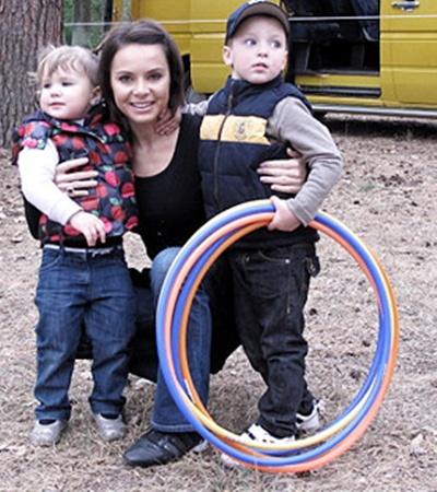 Главное сокровище чемпионки - сын Вадим и дочь Каролина.