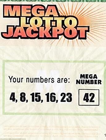 Выигрышный лотерейный билет Хёрли. Стартовая цена 800 долларов.
