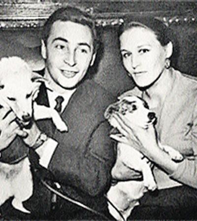 Одни всенародные любимцы в руках других: Белка и Стрелка с Тихоновым и Мордюковой.