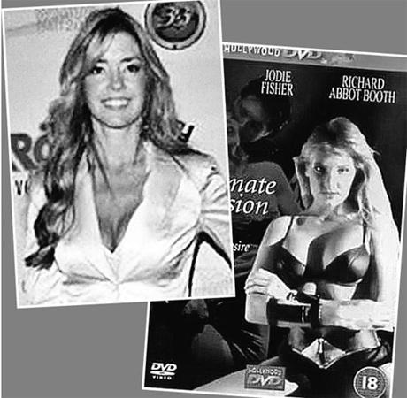 Джоди Фишер - скромный менеджер (фото вверху) и нескромная модель (фото справа). Найдите десять отличий.