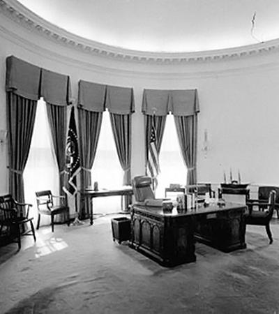 Так минималистично Овальный кабинет выглядел при Джоне Кеннеди.