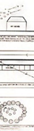 Наблюдатель зарисовал визит вращающихся огоньков к своему дому в 1982 году.
