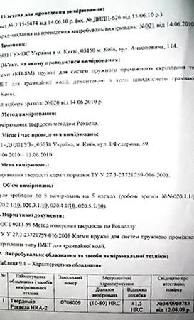 Государственная научно–исследовательская лаборатория железнодорожного транспорта Украины сравнила 5 образцов креплений из скоростной линии с гостами. Результат шокировал всех.