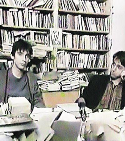 «Гипотеза» Курехина (он справа) о том, что Ленин - это гриб, прочно проросла в народе. Как споры зомбирующих грибов.