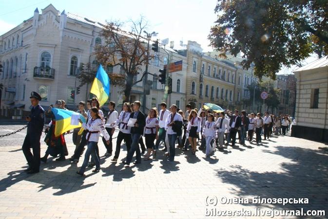 В параде приняли участие около 70 человек
