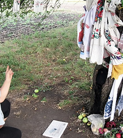 Хозяйка дерева Любовь Легка вспоминает, как увидела образ.