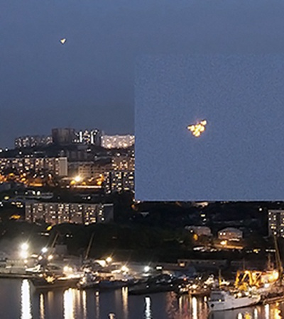 НЛО снимали из разных районов города.