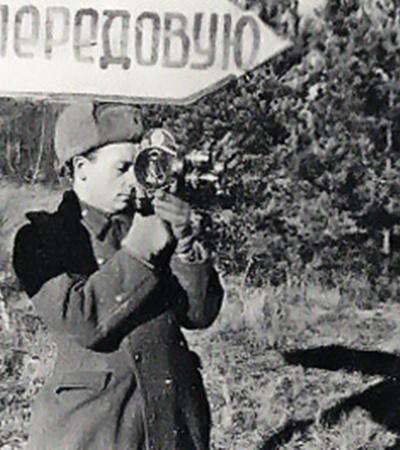В годы войны передовая для кинооператора Котляренко была главным местом работы.