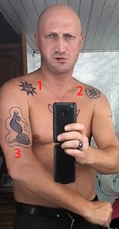 1. Эта «метка» на плече означает фразу: «Вор - птица высокого полета». 2. Криминальная татуировка со значением: «Мне судья - один Бог». 3. Корона на змее указывает на татуировку воровского авторитета. Например, «вора в законе».