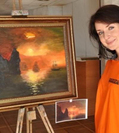Радио-диджей Наталья Осипова пишет маслом впервые.