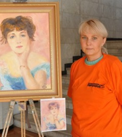 Юрист Елена Барбаховски взялась за самую сложную работу – портрет.