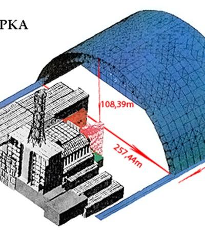 """Категория.  DELFI.   """"Над разрушенным четвертым блоком Чернобыльской АЭС начинают строить новый саркофаг."""