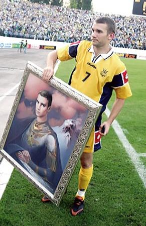 Портрету Андрея Шевченко львовский художник дал название «Легионер».