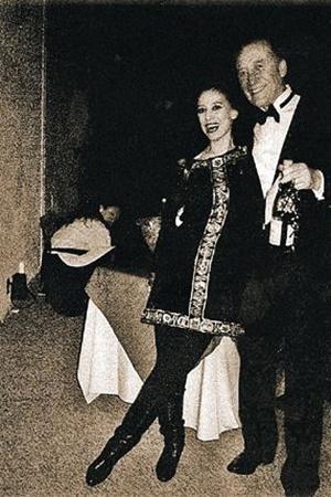 Бостон, 1988 год. Фуршет на фестивале советской музыки. Плисецкая с мужем, композитором Родионом Щедриным.