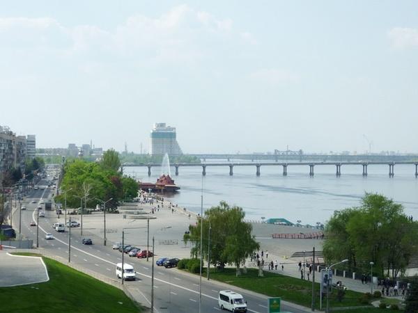 Со смотровой площадки в парке Шевченко открывается один из самых эффектных видов на город