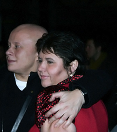 Алексей Гончаренко как мог утешал Наталью за кулисами.