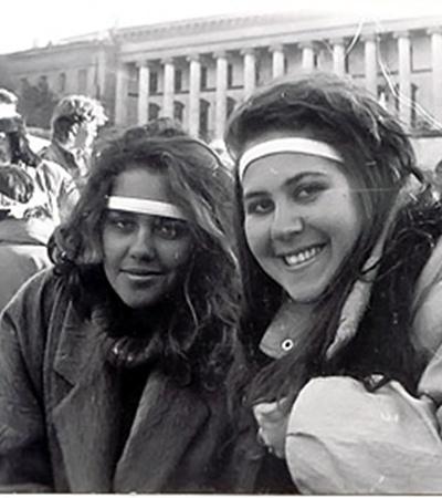 Университетские подруги Виктория Радченко иАнжелика Рудницкая пришли на митинг, потому что«не могли иначе».