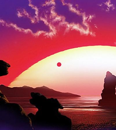 На планете у красного карлика удивительно красивые закаты.
