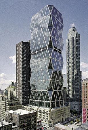 46-этажный небоскреб вырос на крыше оригинального здания Херста постройки 1920-х годов.
