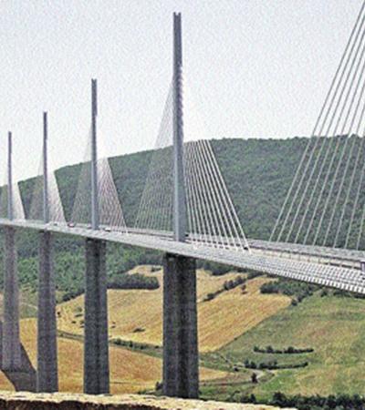 Виадук Millau - самый высокий мост в мире.
