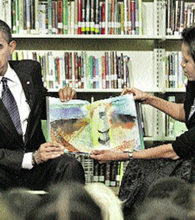 Обама и его супруга - заядлые библиофилы и пропагандисты чтения.