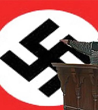 Защитники авторов видеоролика «Серега против Вафли» сравнивают пожилую учительницу с идеологом фашизма. Фото с сайта «ВКонтакте».