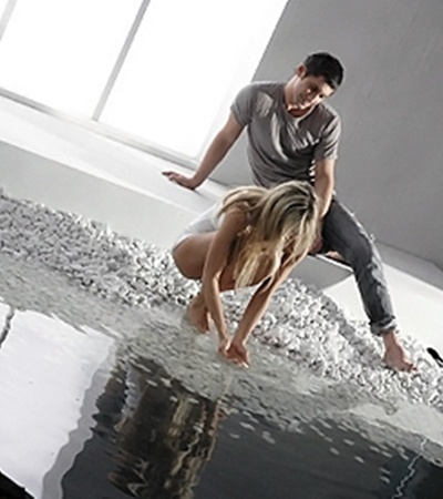 На съемочной площадке Дан и Вера показали, что ради женщины мужчина способен на чудеса.