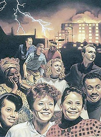 Так «свидетели Иеговы» представляют Армагеддон: вся Земля рушится и горит, а им хорошо и весело.