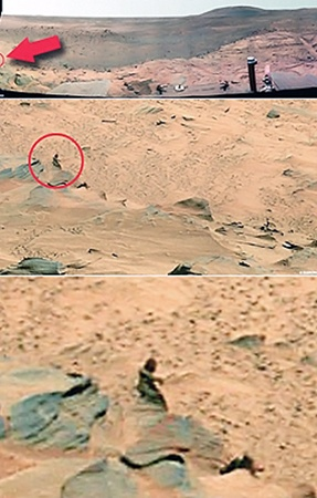 Марсианка на снимке, сделанном американским роботом