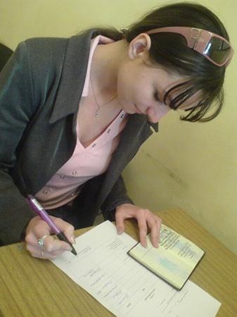 Фото автора. Паспорт гражданина Украины обменяли более двухсот крымчан