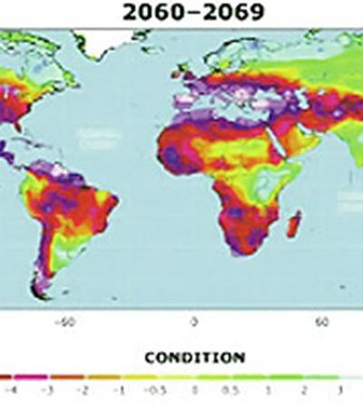В середине века зеленого цвета на карте станет меньше.