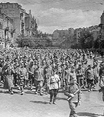 Пленные немцы на Крещатике.
