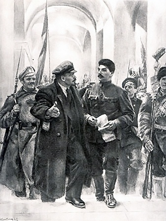 Ленин и Сталин за день до революции. Так увидел историю в 1947 году советский художник Евгений Кибрик.