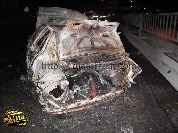 серьезно пострадали два пешехода, которых сбила сгоревшая машина. Фото с сайта drugasmuga.com.