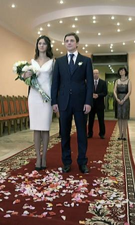 Церемония прошла в Днепровском загсе.