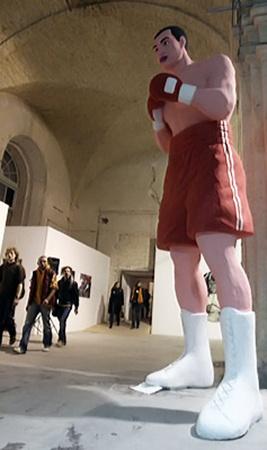 5-метровая фигура Владимира Кличко, созданная скульптором Александром Алексеевым, ищет на арт-ярмарке нового хозяина.