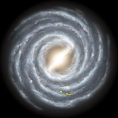 Наша галактика - Млечный Путь. Мы живем в одном из рукавов.