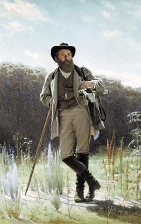 Таким великого русского пейзажиста увидел в 1873 году другой знаменитый художник - Иван Крамской.