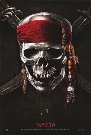 Один из первых постеров к фильму «Пираты Карибского моря: На странных берегах».