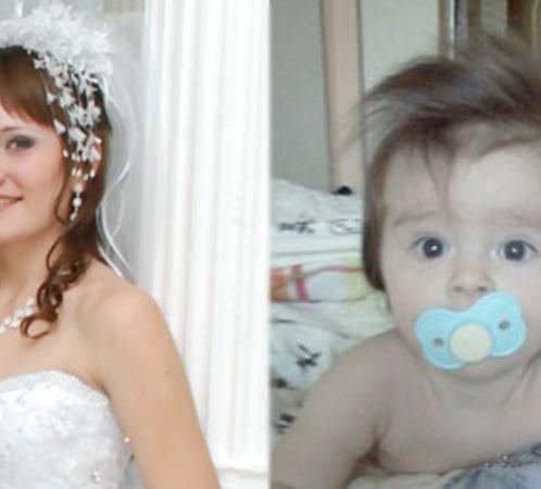 Жертвы «цапков». 19-летнюю Елену Аметову и ее девятимесячную дочурку Амиру похоронили в одном гробу.
